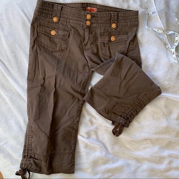 No Boundaries brown capri pants juniors 11 average
